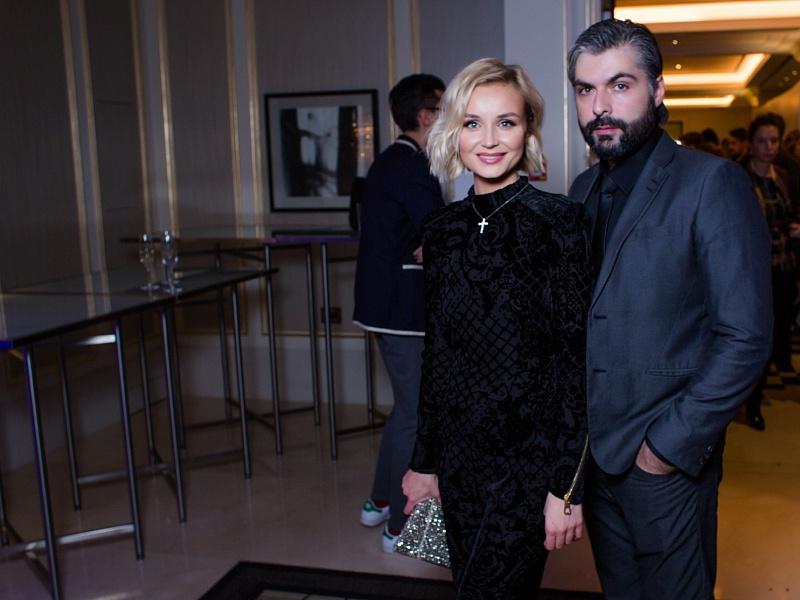 Полина Гагарина с супругом. Презентация клипа Филиппа Киркорова, 2015