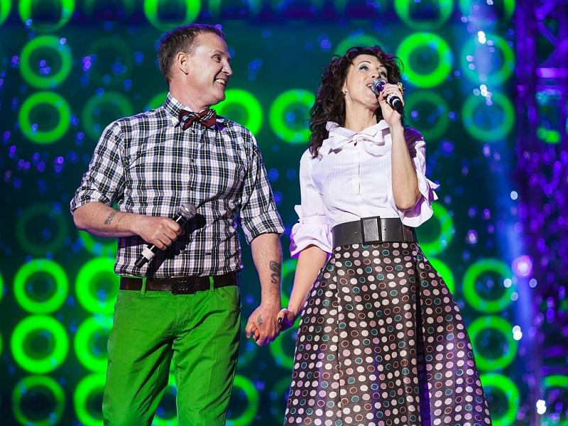 Виктор Рыбин и Наталья Сенчукова. Фестиваль «Disco Дача 2014»