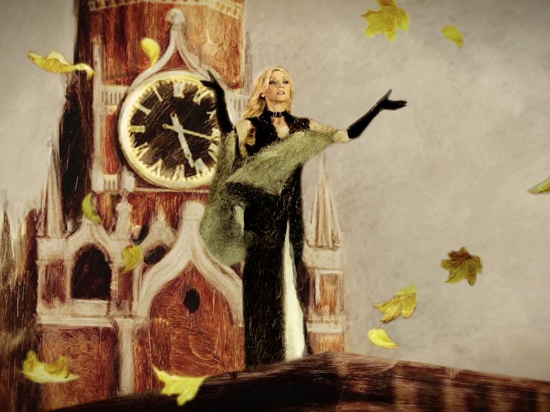 Съёмки клипа «Московская осень» Кристины Орбакайте