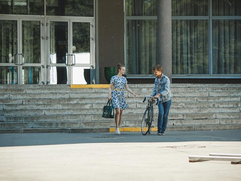 Съёмки клипа «Крестики-нолики» В. Рыбина и Н. Сенчуковой