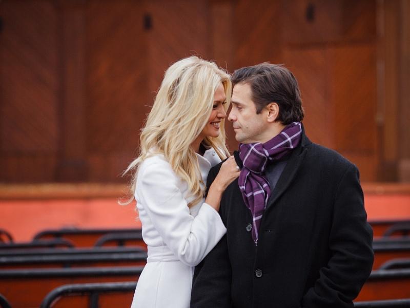 Съёмки клипа «Осень в Москве» Андрея Бандера