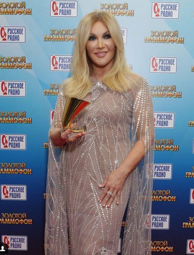 Таисия Повалий получила «Золотой Граммофон» за песню «Сердце — дом для любви»